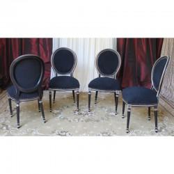 Chaises Médaillon noir